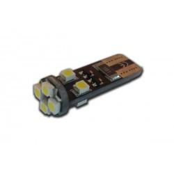 W5W Luce lampadina 8 led smd 1210 con canbus