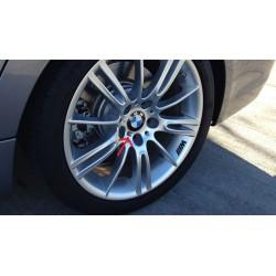 Set 4 adesivi a rilievo 3D con logo M Power per cerchi in lega BMW universali interni esterni carrozzeria
