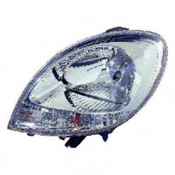 Faro fanale proiettore anteriore sinistro RENAULT KANGOO 2003-2007, H4 cromato, freccia bianca