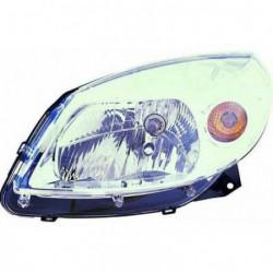 Faro fanale proiettore anteriore destro DACIA SANDERO 2008-09/2012, cromato H4 per regolazione elettrica