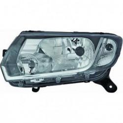 Faro fanale proiettore anteriore sinistro DACIA SANDERO 2012- e LOGAN 2013-, H4 regolazione manuale