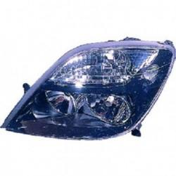 Faro fanale proiettore anteriore destro RENAULT SCENIC 09/1999-05/2003, nero H7+H1 per regolazione elettrica, per RX4