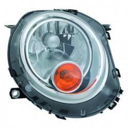 Faro fanale proiettore anteriore sinistro MINI R56 2006-2014, freccia gialla H4 con motorino regolazione elettrica
