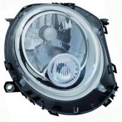 Faro fanale proiettore anteriore sinistro MINI R56 2006-2014, freccia bianca H4 con motorino regolazione elettrica