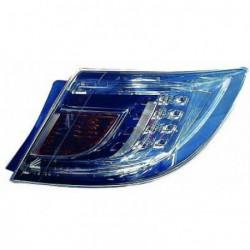 Faro fanale posteriore sinistro MAZDA 6, 2007-03/2010 berlina 4 e 5 porte, LED cromato esterno