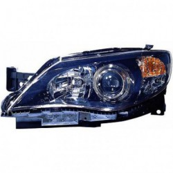 Faro fanale proiettore anteriore destro SUBARU IMPREZA 10/2007-2010 H7+HB3 per regolazione elettrica nero