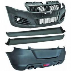 Kit estetico paraurti completo SUZUKI SWIFT 09/2010-10/2013, look Sport, paraurti anteriore posteriore minigonne griglie