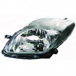 Faro fanale proiettore anteriore sinistro TOYOTA YARIS 2009-2011 H4 con motorino regolazione elettrica, nero modello Sport