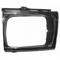 Cornice faro fanale proiettore anteriore sinistro TOYOTA HILUX 01/1992-07/1997 per 4WD cromata nera