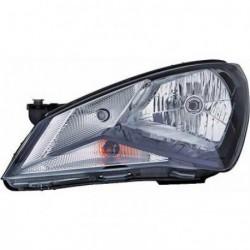 Faro fanale proiettore anteriore destro SEAT Mii 2011- nero H4 con motorino con luce diurna