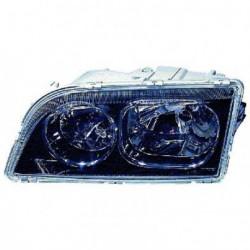 Faro fanale proiettore anteriore destro VOLVO S40 V40, 01/2003-12/2003 fondo nero e bordo cromato H7+H7 per regolazione elettrica