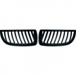 Set calandra griglia TUNING BMW Serie 3 E90 E91 berlina Touring 2005-2008 Carbon look, due pezzi