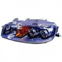 Faro fanale proiettore anteriore destro FIAT PUNTO 06/2001-06/2003 per regolazione elettrica H1+H1+H3, con fendinebbia