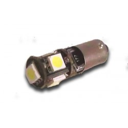 Luce posizione H6W 5 LED SMD bianca con resistenza