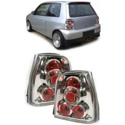 Set fari fanali posteriori TUNING per VW LUPO e SEAT AROSA 05/1997-11/2000 Lexus cromati a 4 cerchi