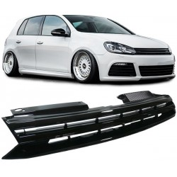 Calandra griglia cofano TUNING VW GOLF VI 2008-2012 nera no logo