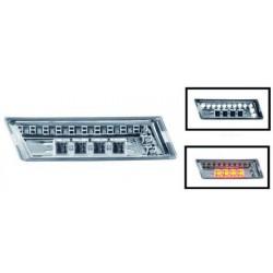 Set frecce laterali TUNING cromate a LED, con luce diurna parcheggio a LED bianca, per AUDI A4 berlina Avant 2000-2007, A4 Cabrio 2001-2009, A3 2003-2008, A6 1997-2004