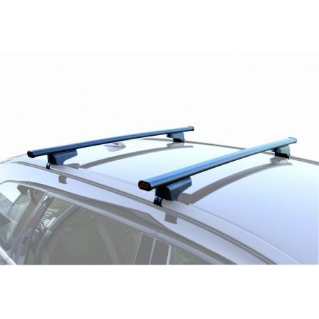set coppia barre portatutto tetto marca g3 clop acciaio inox