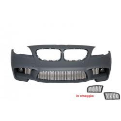 Paraurti anteriore M5 TUNING look sportivo per BMW Serie5 F10 F11 2010-2013 berlina Touring, per lavafari per sensori, CON fendinebbia