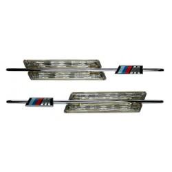 Frecce laterali LED Cromate stile BMW M3 M5 x E60 E61 E90 E91 E87 X3 X5