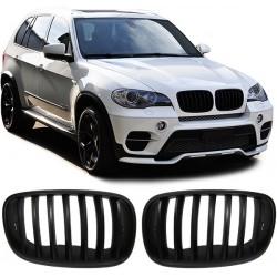 Calandra anteriore TUNING BMW X5 E70 2007-2013 anche LCI e X6 2008-2014 nero opaco