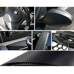 Pellicola look fibra di carbonio fondo nero misura 127x50 cm Car wrapping 3D