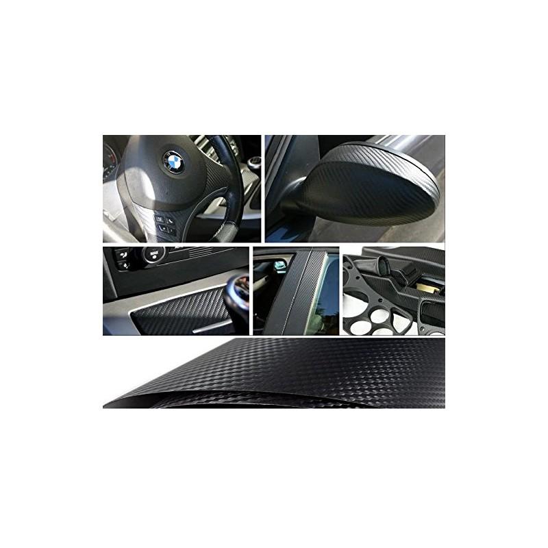 Pellicola look fibra di carbonio fondo nero misura 60x50 for 3 metri quadrati di garage per auto