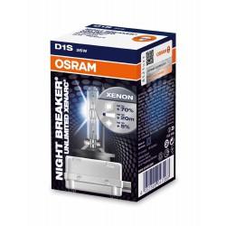 OSRAM XENARC NIGHT BREAKER UNLIMITED D1S - coppia lampade xenon 70% in più di luce, 4350k originale