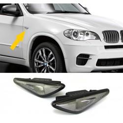 Set frecce laterali TUNING BMW X5 E70 2007-2013 anche LCI, X6 serie E71 anni 2007-2014, X3 F25 anni 2010-2014, modello a LED nero