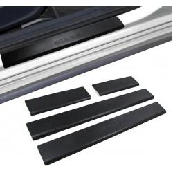 Battitacco set completo tuning sportivo EXCLUSIVE per DACIA DUSTER 2010- in acciaio effetto alluminio lucidato