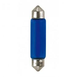 Coppia lampada lampadina siluro effetto xenon BLU-XE C10W 44 mm POTENZIATA 15W 12V interni targa
