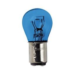 Coppia lampada lampadina 2 filamenti effetto xenon BLU-XE P21/5W 12V BAY15d