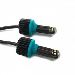 Luci diurne LED con canbus bianchissime BA15s 1156 24watt 800lm potenti 4 led Cree XBD