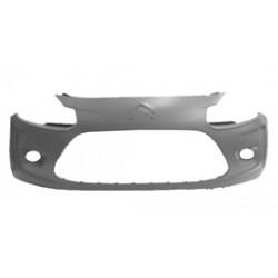 Paraurti anteriore CITROEN C3 2009-04/2013 verniciabile, per fendinebbia, con sagome per modanature laterali
