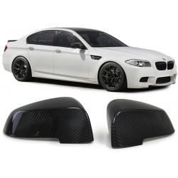 Set coppia coprispecchi TUNING carbon vero carbonio BMW Serie 5 F10 F11 F18 berlina Touring GT Serie 7 F01 F02