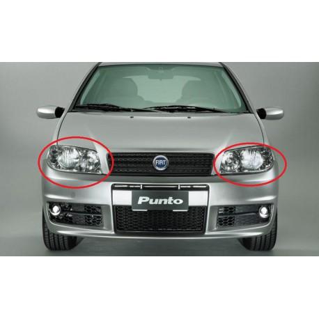 Coppia set faro fanale proiettore anteriore destro e sinistro FIAT PUNTO 2003 2004 per regolazione elettrica H7+H1