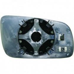 Vetro per specchio specchietto retrovisore esterno destro SKODA SUPERB anni 2001-08/2006 riscaldabile convesso azzurro grande
