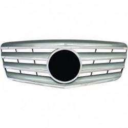Calandra griglia TUNING MERCEDES ClasseE W211 2006-2009 cromata argento look Sport AMG con marchio originale