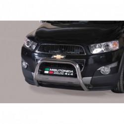 Bullbar anteriore OMOLOGATO CHEVROLET Captiva 2011-2014 acciaio INOX mod Medium con marchio