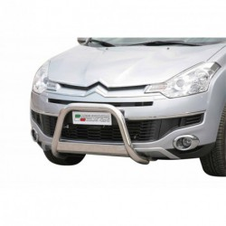 Bullbar anteriore OMOLOGATO CITROEN C-Crosser 2007-2012 acciaio INOX mod Medium con marchio