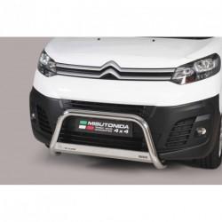Bullbar anteriore OMOLOGATO CITROEN Jumpy dal 2016- acciaio INOX mod Medium
