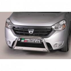 Bullbar anteriore OMOLOGATO DACIA Dokker dal 2012- acciaio INOX mod Medium