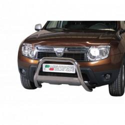 Bullbar anteriore OMOLOGATO DACIA Duster dal 2010- acciaio INOX mod Medium con marchio