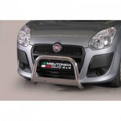 Bullbar anteriore OMOLOGATO FIAT Doblò 2010-2015 acciaio INOX mod Medium con marchio