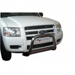 Bullbar anteriore OMOLOGATO FORD Ranger 2007-2009 acciaio INOX mod Medium con marchio