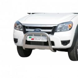 Bullbar anteriore OMOLOGATO FORD Ranger 2009-2011 acciaio INOX mod Medium con marchio