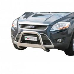 Bullbar anteriore OMOLOGATO FORD Kuga 2007-2012 acciaio INOX mod Medium con marchio