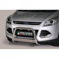 Bullbar anteriore OMOLOGATO FORD Kuga 2013-2017 acciaio INOX mod Medium con marchio