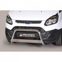 Bullbar anteriore OMOLOGATO FORD Transit Custom (L1 - L2) dal 2013- acciaio INOX mod Medium