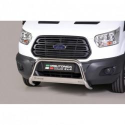 Bullbar anteriore OMOLOGATO FORD Transit 2013- acciaio INOX mod Medium con marchio